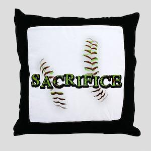 Sacrifice Fastpitch Softball Throw Pillow