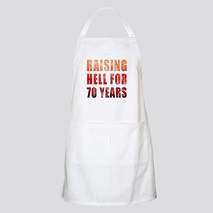 Raising Hell 70th Birthday Apron