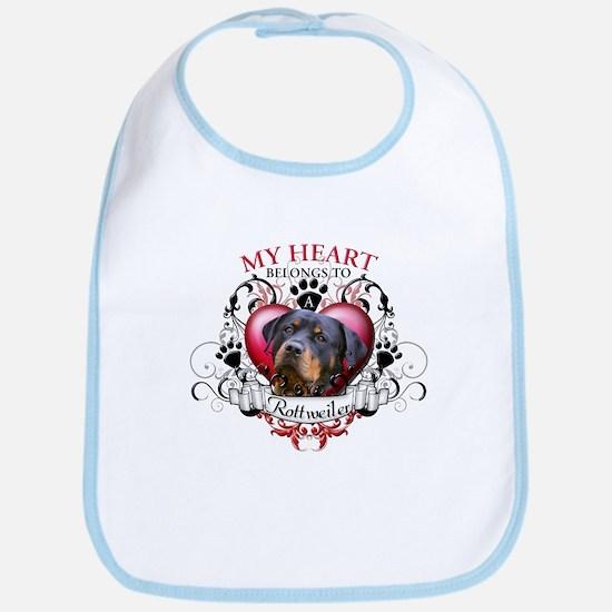 My Heart Belongs to a Rottweiler 2 Bib