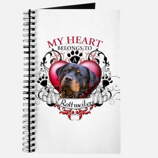 My Heart Belongs to a Rottweiler 2 Journal