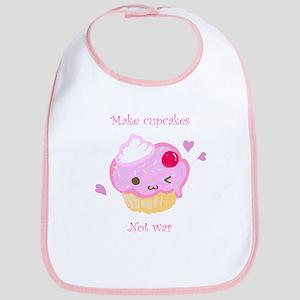 """""""Make Cupcakes, Not War"""" Bib"""