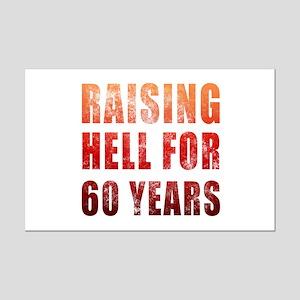 Raising Hell 60th Birthday Mini Poster Print