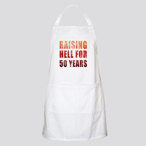 Raising Hell 50th Birthday Apron