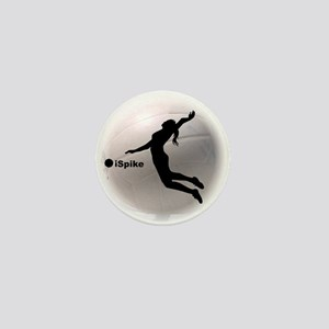 ispike Volleyball Mini Button