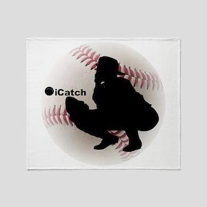 iCatch Baseball Throw Blanket