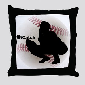 iCatch Baseball Throw Pillow