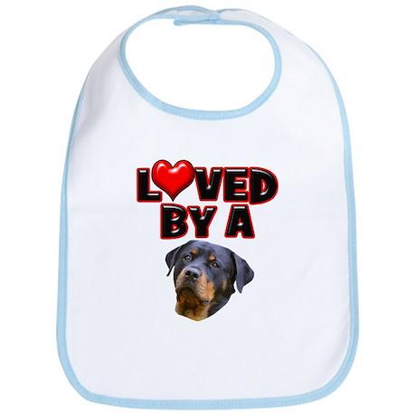 Loved by a Rottweiler 3 Bib