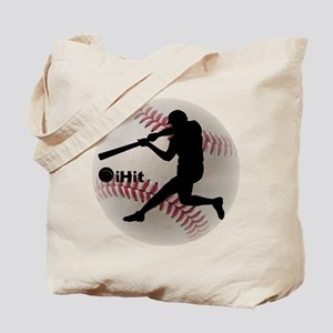 Baseball iHit Tote Bag