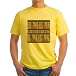 Egyptian Hieroglyphics Yellow T-Shirt
