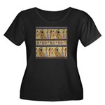 Egyptian Hieroglyphics Women's Plus Size Scoop Nec