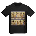 Egyptian Hieroglyphics Kids Dark T-Shirt