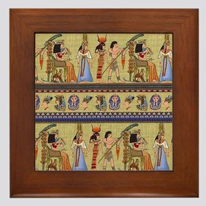 Egyptian Hieroglyphics Framed Tile