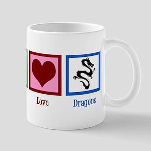 Peace Love Dragons Mug
