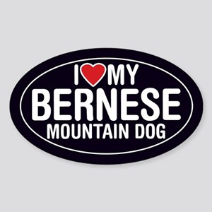 I Love My Bernese Mountain Dog Sticker/Decal(Oval)