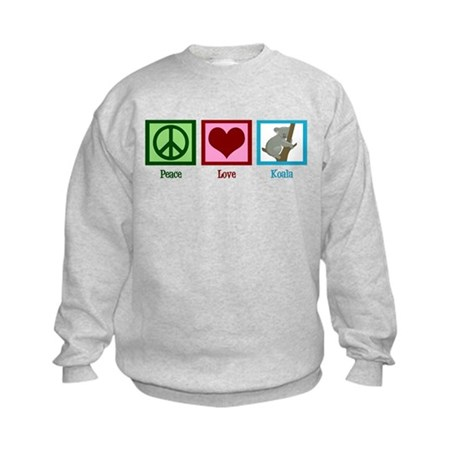 Peace Love Koala Kids Sweatshirt