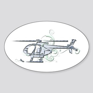 MH6 Helicopter Sticker