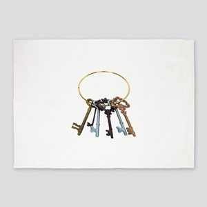 KeyChainAntique070209 5'x7'Area Rug