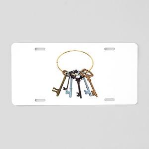 KeyChainAntique070209 Aluminum License Plate