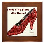 No Place Like Home Framed Tile