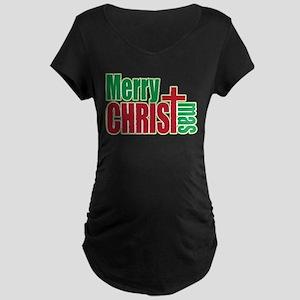 Merry CHRISTmas Maternity Dark T-Shirt