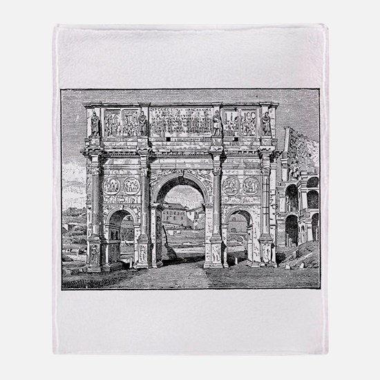 Arch of Constantine Throw Blanket
