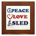 Peace Love Sled - Snowmobiler Framed Tile