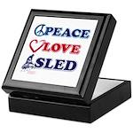 Peace Love Sled - Snowmobiler Keepsake Box