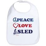 Peace Love Sled - Snowmobiler Bib