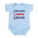 Peace Love Sled - Snowmobiler Infant Bodysuit