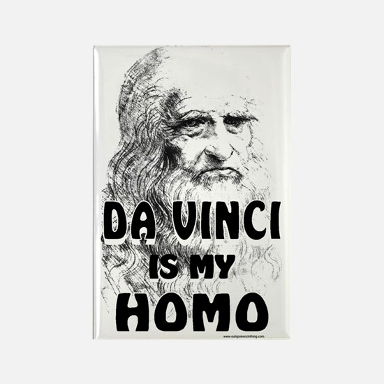 da Vinci Is My Homo Rectangle Magnet