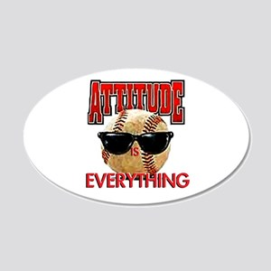 Attitude is Everything 20x12 Oval Wall Peel