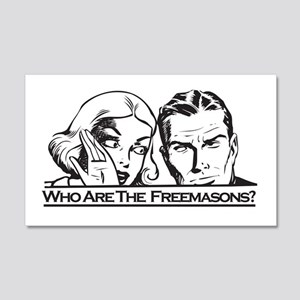 Who Are The Freemasons 20x12 Wall Peel