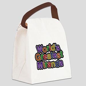 Worlds Greatest Miranda Canvas Lunch Bag