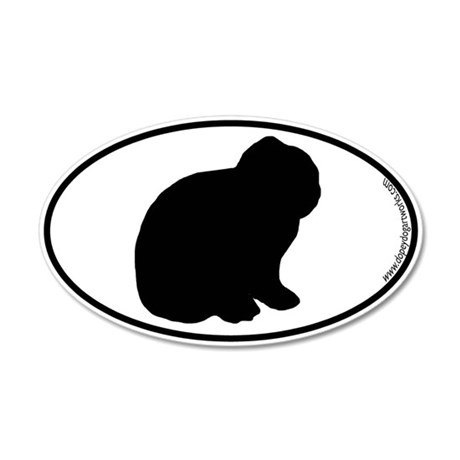 Lop Bunny SILHOUETTE 35x21 Oval Wall Peel