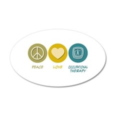 Peace Love Occupational Therapy 20x12 Oval Wall Pe