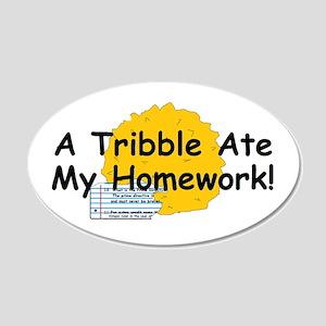 A Tribble ate my homework 35x21 Oval Wall Peel