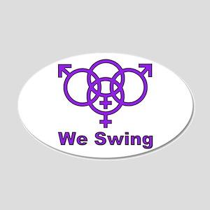 """Swinger Symbol """"We Swing"""" 20x12 Oval Wall Peel"""