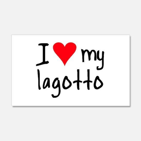 I LOVE MY Lagotto 20x12 Wall Peel