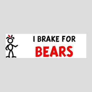 I Brake For Bears 36x11 Wall Peel