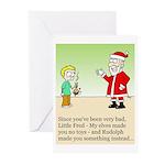 Santa's Revenge Christmas Card package of 10