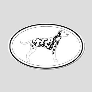Dalmatian Profile 20x12 Oval Wall Peel
