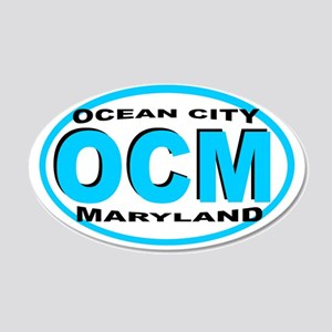Ocean City MD 20x12 Oval Wall Peel