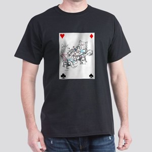 Poker Cats™ in Water Color Dark T-Shirt
