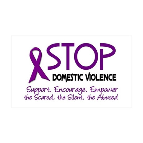 Stop Domestic Violence 2 35x21 Wall Peel