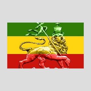 Roots Reggae Rasta Lion 35x21 Wall Peel