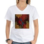 The Blue Dragonfly Women's V-Neck T-Shirt