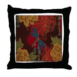 The Blue Dragonfly Throw Pillow