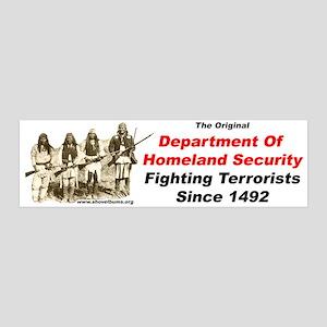 Fighting Terrorists since 1492 36x11 Wall Peel
