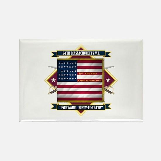 54th Massachusetts Rectangle Magnet