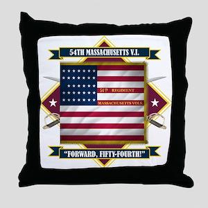 54th Massachusetts Throw Pillow